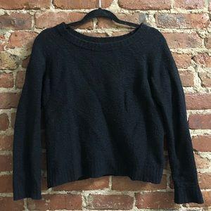 Banana Republic wool boatneck sweater in black